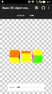 3D object - basic example - screenshot