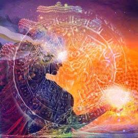 Goddess of the white fire by Josiah Hill-meyer - Digital Art Abstract