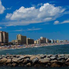 Virginia Beach VA by Troy Oster - City,  Street & Park  Vistas ( depth of field, shoreline, pier, beach, surf, ocean view, rocks,  )