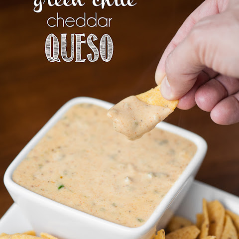 Green Chile Cheddar Queso
