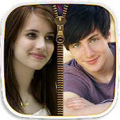 Couple Photo Zipper LockScreen APK for Bluestacks