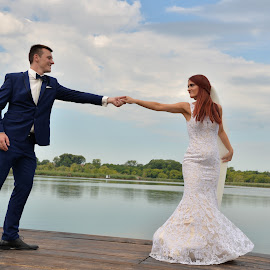 Dance Like Nobody's Watching by Sasa Rajic Wedding Photography - Wedding Bride & Groom ( water, dancing, wedding photography, wedding day, weddings, wedding, wedding dress, dance )