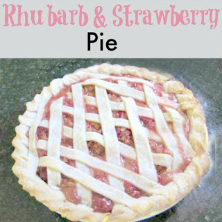 Rhubarb & Strawberry Pie
