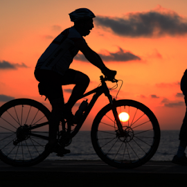 Sport at Sunset by Yuval Shlomo - Sports & Fitness Cycling