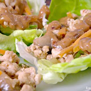 Ground Chicken Lettuce Wraps Peanut Sauce Recipes