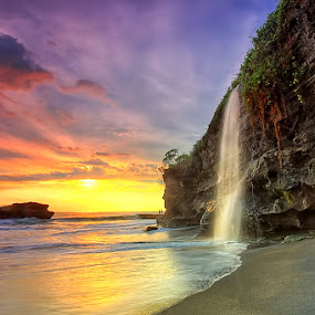 Melasti Fall by Agoes Antara - Landscapes Waterscapes