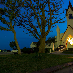 by Bill MacLachlan - Buildings & Architecture Places of Worship ( japan, night, okinawa, chapel, light )