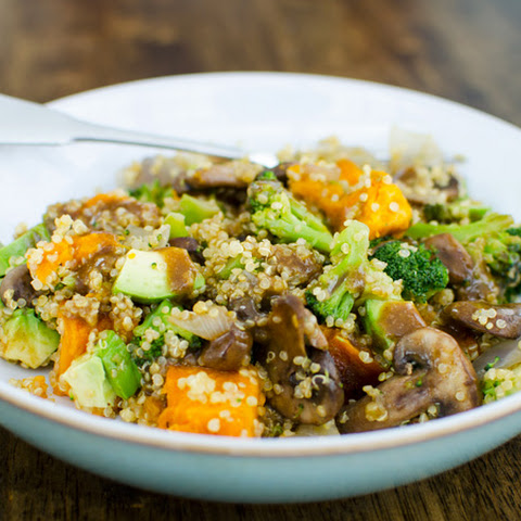 Warm Teriyaki Quinoa Salad