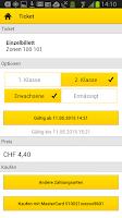 Screenshot of PostBus app