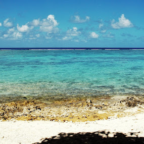 So blue, so clear by Minami Kojima - Landscapes Beaches ( clear, saipan, nature, blue, sea, beach )