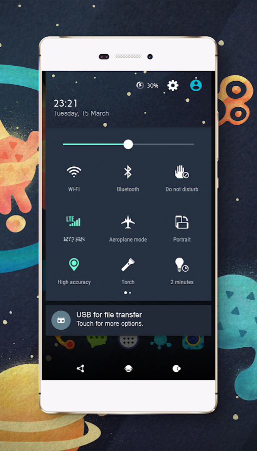 Space cm13 cm12 theme engine Screenshot 1