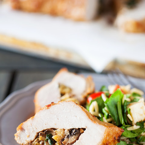 Apple Mushroom Stuffed Pork Loin