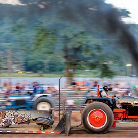 Plain Nutz Tractor by Dave Dabour - Transportation Other ( warren county farmers fair, wednesday, 2015, tractor pull )
