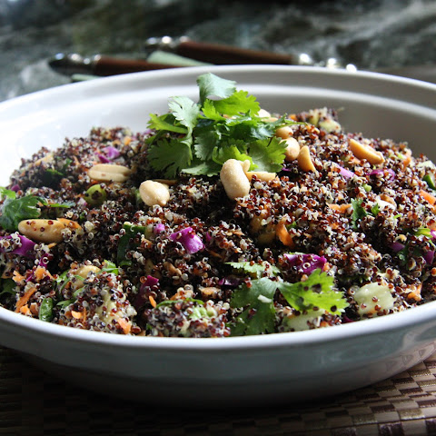 Asian Quinoa Salad with Cilantro Coconut Dressing