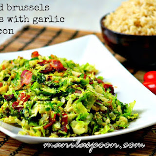 Sautéed Brussels Sprouts with Bacon (and Garlic)