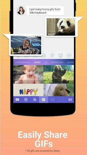 Kika Keyboard - Emoji Keyboard, Emoticon, GIF screenshot 5