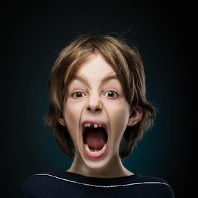 Asher by Geoff Ridenour - People Fine Art ( scream, asher, children, youthful, smile, nikon, profoto, portrait, expressions )