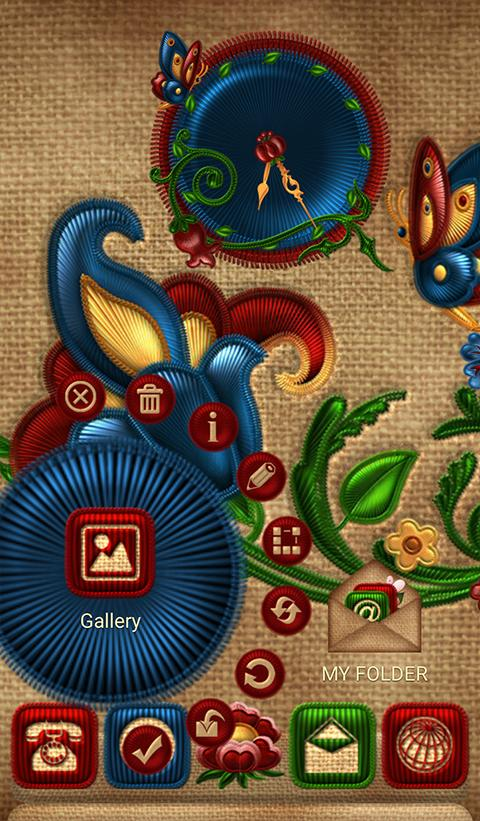 NEXT FLOWERS EMBROIDERY THEME Screenshot 1
