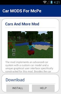 Car MODS For McPe - screenshot