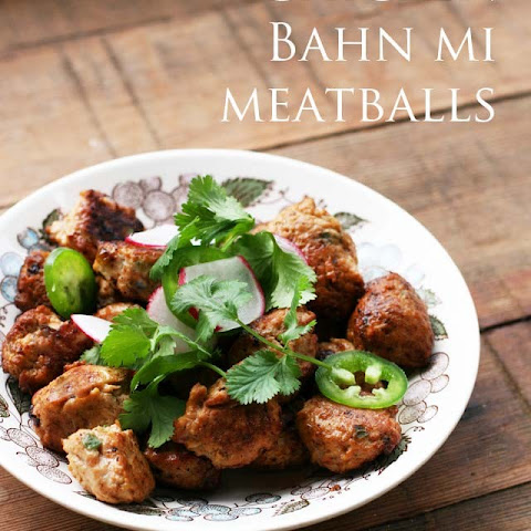 Chicken Bahn Mi Meatballs