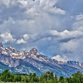 Grand Teton Cloudscape by Jim Czech - Landscapes Mountains & Hills ( clouds, mountains, sky, mountain range, tetons,  )