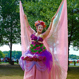 The lady in pink. by Peter DiMarco - People Fashion ( fashion, stilts, lady, pink, people )