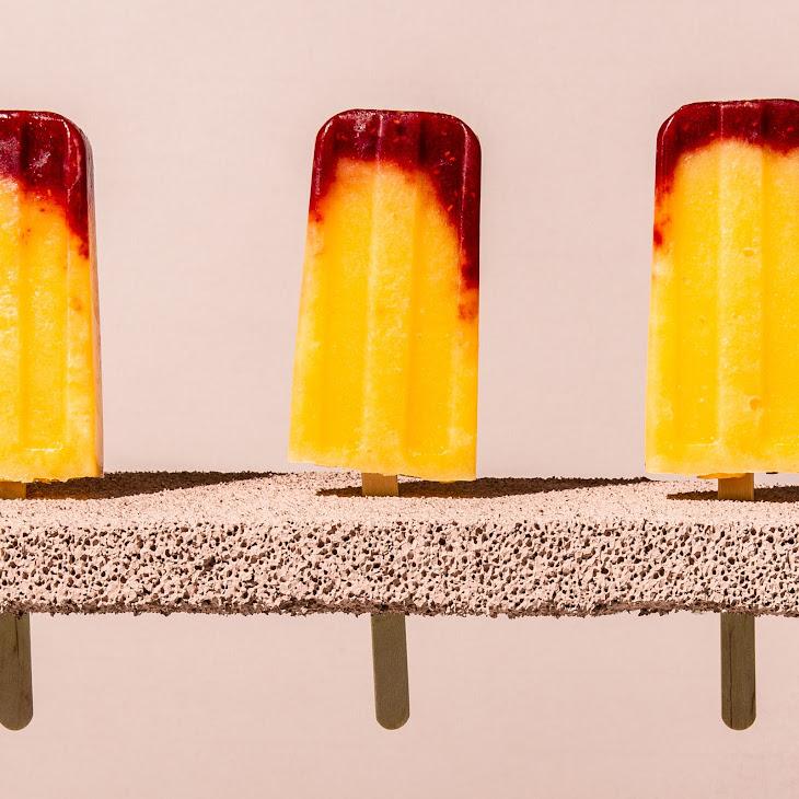 Raspberry-Peach Bellini Ice Pops Recipe | Yummly