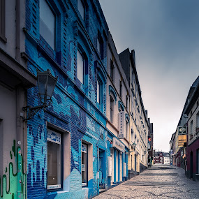 Das blaue Haus by Rob Menting - Buildings & Architecture Public & Historical ( canon, mönchengladbach, eos, building, stairs, europe, germany, house, travel, city )