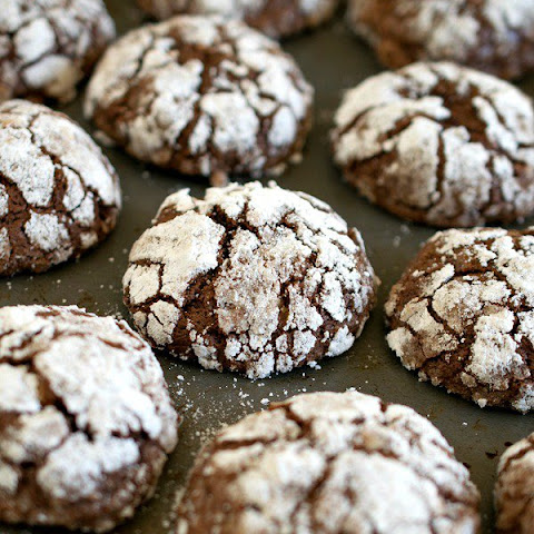 Chocolate Malted Crinkles