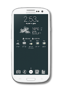 ToBe Weather Icons-Chronus - screenshot