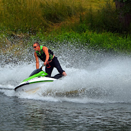 Jetski Fun by Marco Bertamé - Sports & Fitness Watersports ( water, splash, jetski, summer, fun )