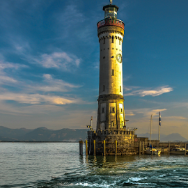 Sunset Lighthouse! by Jesus Giraldo - Buildings & Architecture Other Exteriors ( contrast, water, dynamic, building, hdr, colors, sunset,  )