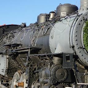 Xmas Train by Kathy Kehl - Transportation Trains ( steam train, train, xmas train )