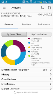 Schwab Workplace Retirement screenshot for Android