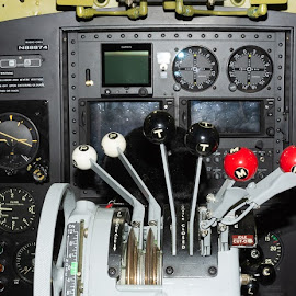 C-47 Cockpit by Ray Ebersole - Transportation Airplanes ( c-47, tulsa, votech, aircraft, commemorative air force )