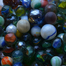 marbles by Dean Moriarty - Artistic Objects Still Life ( circular, glass, marbles, sphere, round )