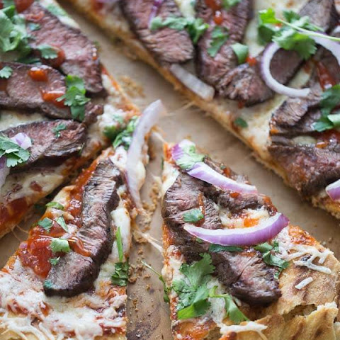 BBQ Steak Over Beer Pizza Crust