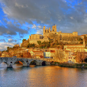 The City of Beziers by Paul Atkinson - City,  Street & Park  Vistas ( europe, winter, beziers, france, landscape, langedoc, city )