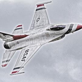 Thunderbirds Opposing Solo Aircraft by Jim Baker - Digital Art Things ( photo stream )