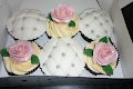 Quilted Cupcakes and Rose Cupcakes