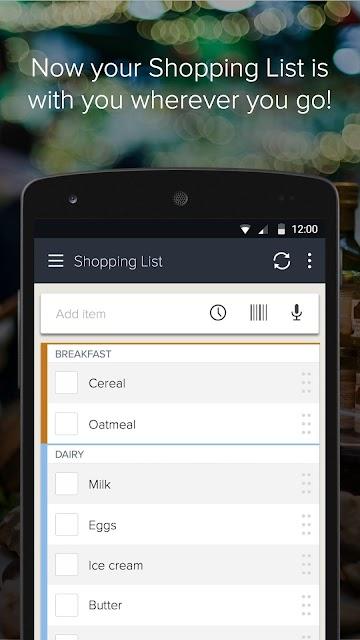 Out of Milk Shopping List screenshots