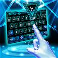 3D Neon Hologram Typewriter Keyboard Theme