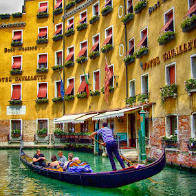 Gondola by Ana Paula Filipe - City,  Street & Park  Street Scenes ( gondola, street, boat, veneza, river,  )