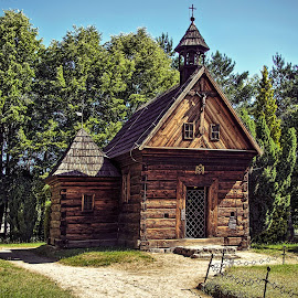 wooden chapel by Tomasz Marciniak - Buildings & Architecture Places of Worship ( old, village, wood, chapel )