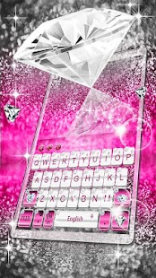 Elegant Pink Diamond Keyboard Theme