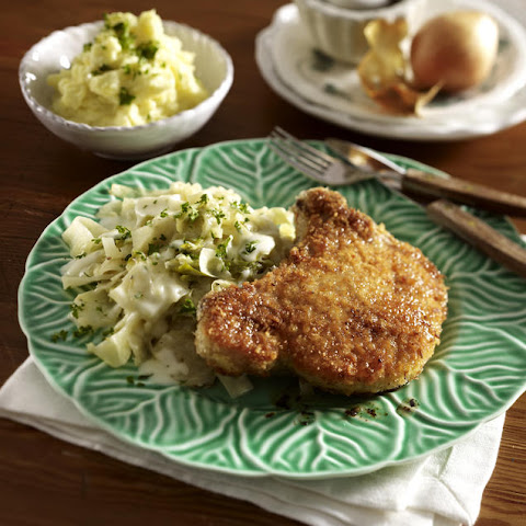 Pork Chops with Cabbage and Mashed Potatoes