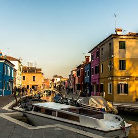 Colours of Burano by Hariharan Venkatakrishnan - City,  Street & Park  Street Scenes