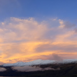 Winter Panorama by Perla Tortosa - Instagram & Mobile Android ( clouds, mountains, winter, sky )