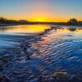 The Rio Grande At Santa Elena Canyon by Thomas Crews - Landscapes Sunsets & Sunrises ( big bend, rio grande, 2015, texas, santa elena canyon, sunrise, landscape )