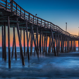 Outer Banks Fishing Pier by David Long - Buildings & Architecture Bridges & Suspended Structures ( fishing pier, outer banks, sunrise )